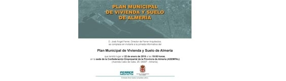 Journey of the Municipal Plan of Housing and Land of Almería