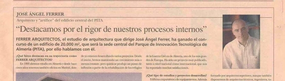 """FERRER ARQUITECTOS and PITA in the national journal """"5 Días"""""""
