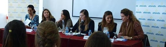 """Rocío Rentero, partner of the study, in the round table """"Current political and economic situation in Almeria"""""""