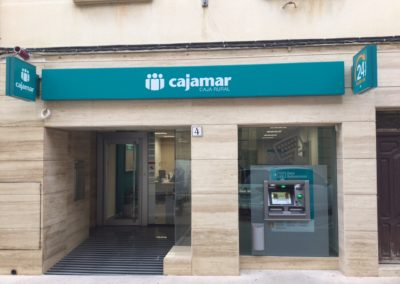 Cajamar Office in Pinoso. Alicante. 2016.