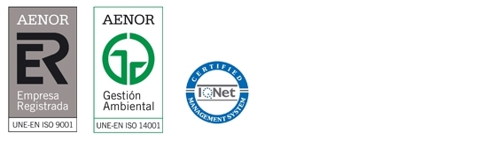 AENOR certifies the company with ISO 9001 and ISO 14001