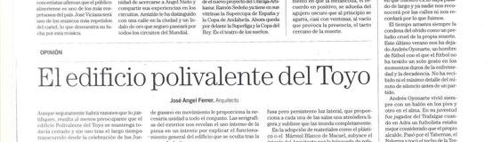 "Article by José Ángel Ferrer, ""The multipurpose building of El Toyo""."