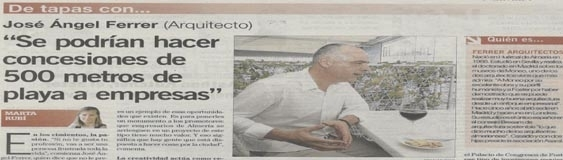 "Interview with José Ángel Ferrer in the newspaper ""La Voz de Almería"""