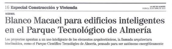 """La Voz de Almería. Special construction and housing. """"PITA""""."""