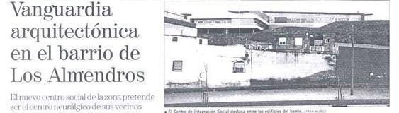 """La Voz de Almería. 29/02. """"Los Almendros""""."""