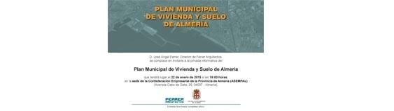 Jornada del Plan Municipal de Vivienda y Suelo de Almería