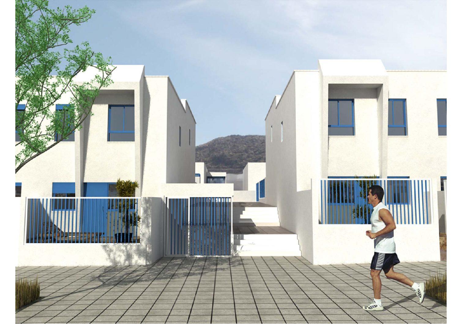 Proyecto de 48 viviendas, 18 locs. en San José, Níjar. Almería. 2004.