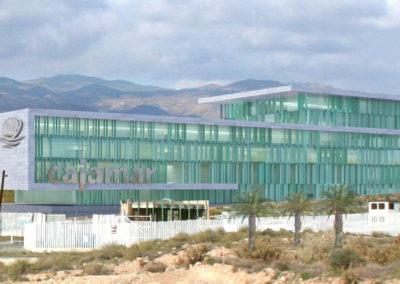 Anteproyecto Edificio de Cajamar en el PITA. Almería. 2013.