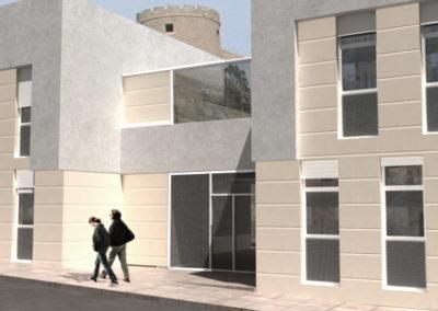 Anteproyecto de 33 VPO en la Chanca. Almería. 2008.
