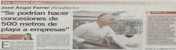 """Entrevista con José Ángel Ferrer en el periódico """"La Voz de Almería"""""""