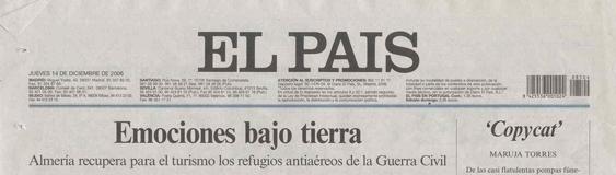 Periódico El País. Diciembre. «Los Refugios de Almería».