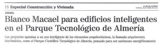 La Voz de Almería. Especial construcción y vivienda. «PITA».