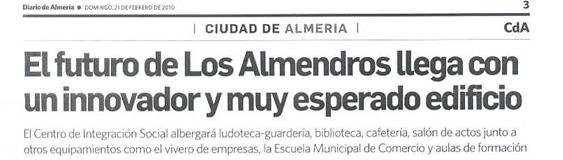 Diario de Almería. 21/02. «Los Almendros».