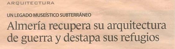 Periódico Expansión. 28/01. «Los Refugios».