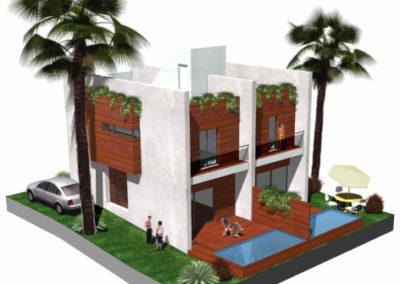 Proyecto y Dirección de Obra de 33 viviendas en San José. Almería. 2006.